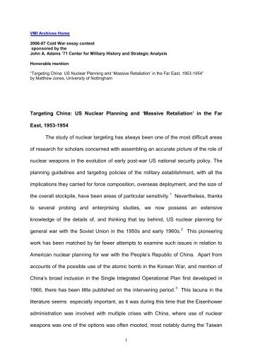 Writing High School Essays Adams Center Cold War Essay Contest Matthew Jones Paper Example Of A Thesis Statement In An Essay also English Essay Outline Format Adams Center Cold War Essay Contest Steven Pomeroy Paper The Newspaper Essay
