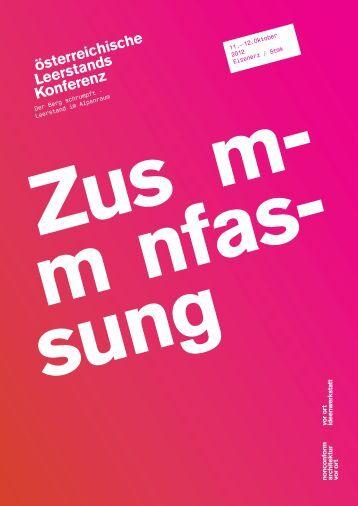 österreichische Leerstands Konferenz - Internationales Städteforum ...
