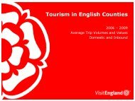 Tourism in English Counties - VisitEngland