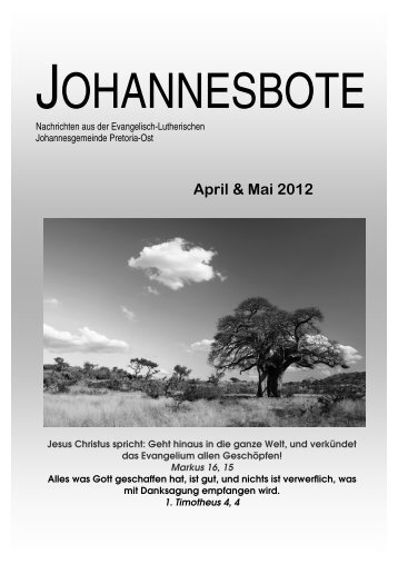 aussenblatt april mai 2012.pub - johannesgemeinde.org.za