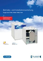 BIA- Betriebs und Installationsanleitung Avent P300/450 - Pluggit