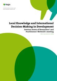 Local Knowledge and International Decision-Making in ... - Kepa