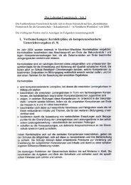 Der Lehrplan Französisch – Sek - Gesamtschule Eiserfeld