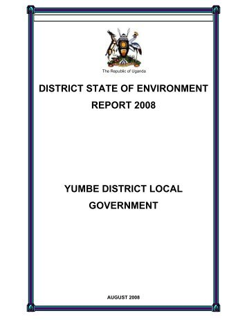 district state of environment report 2008 yumbe district local ...