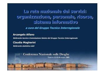 Arcangelo Alfano - 5a Conferenza nazionale sulle droghe