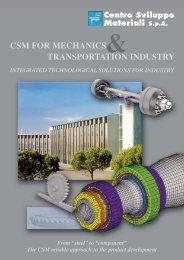 brochure Meccanica x PDF a GG - Centro Sviluppo Materiali S.p.A.