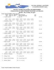 XII FINA WORLD MASTERS CHAMPIONSHIPS CHALLENGE ...