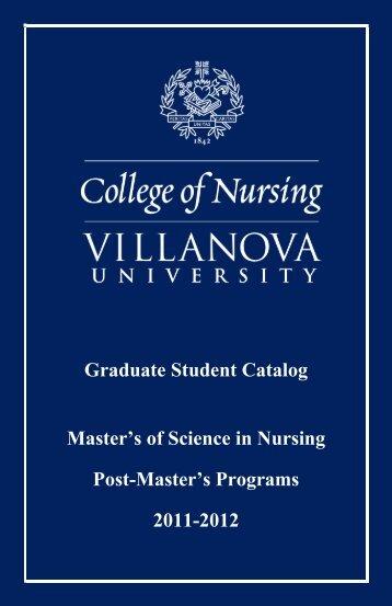 Graduate Student Catalog - Villanova University