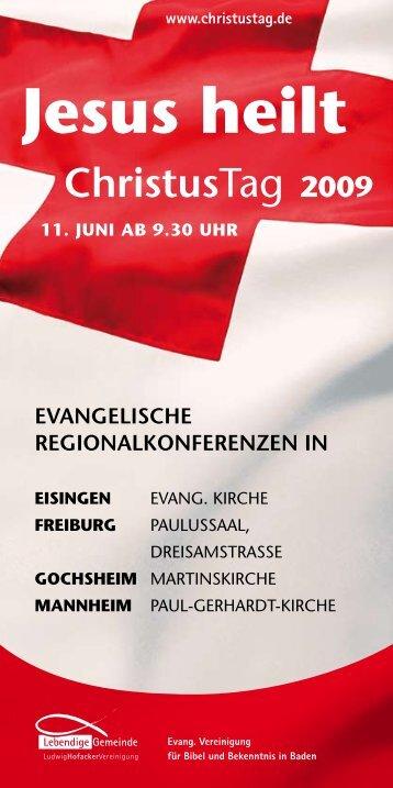 Programm Baden - Lebendige Gemeinde