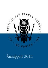 Årsrapport 2011 - Institutt for Forsvarsstudier - Forsvaret
