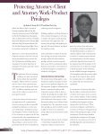 Protecting Attorney-Client and Attorney Work-Product Privileges - Page 2