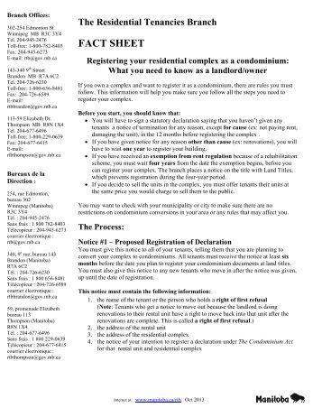 Condos - Registering your residential complex as a condominium