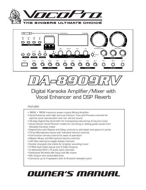 DA-8909RV Manual Text.indd - Sundial Micro, Inc.