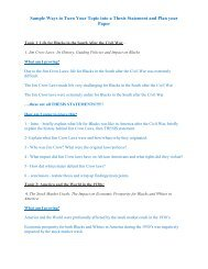 Sample Ways to Turn Your Topic into a Thesis Statement and Plan ...