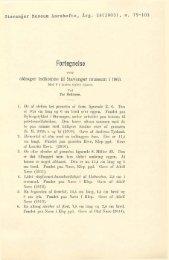 Fortegnelse over oldsager indkomne til Stavanger Museum i 1903