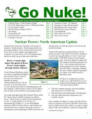Nuclear Power - North American Young Generation in Nuclear