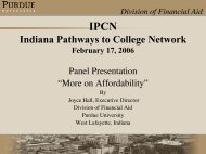 Division of Financial Aid - Indiana Pathways to College Network