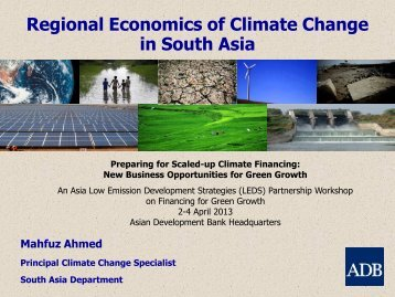 Regional Economics of Climate Change in South Asia