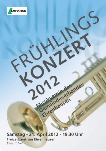 21. April 2012 - MVE - Musikverein des Gemeindeverbandes ...