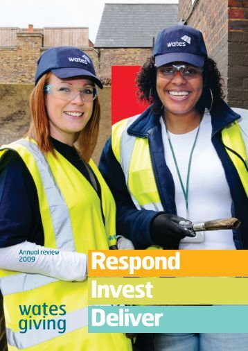 Respond Invest Deliver - Wates