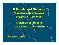Il Malato nel Sistema Sanitario Nazionale Arezzo ... - ArezzoGiovani.it