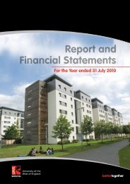 Report and Financial Statements for the year ended 31 July 2010