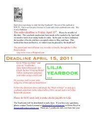 Yearbook Flyer 2010 - Natick Public Schools