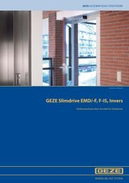 GEZE Slimdrive EMD/-F, F-IS, Invers