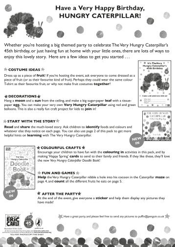 Have fun with The Very Hungry Caterpillar!