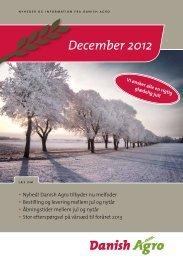 03.12.2012: Læs nyhedsbrevet for december måned ... - Danish Agro
