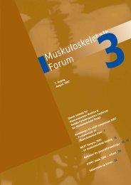 Muskuloskeletalt Forum 3 - 2007 - Fagforum for Muskuloskeletal ...