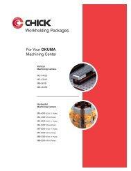 CHICK Sistemi di bloccaggio per MC OKUMA - SEF meccanotecnica