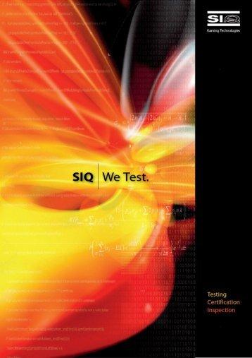 Full page photo print - SIQ Gaming laboratory