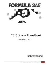 2013 FSAE Lincoln/Electric Student Handbook - Students - SAE ...
