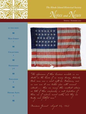 Spring/Summer 2012 - Rhode Island Historical Society