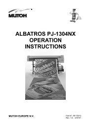 ALBATROS PJ-1304NX OPERATION INSTRUCTIONS - Mutoh