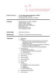 Protokoll - Verband Schweizerischer Einwohnerdienste
