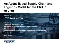 An agent-based supply chain and logistics model for the CMAP region