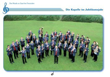 Die Kapelle im Jubiläumsjahr - Musikverein Magstadt