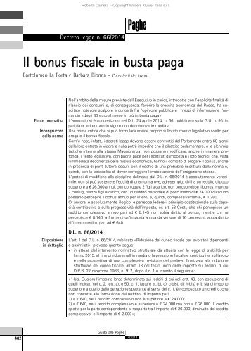 10 free magazines from paoloacciai for Bonus fiscale
