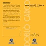 Fiat Doblo Neu Preisliste - Transporter + Service