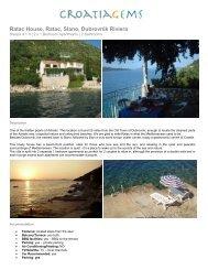 Ratac House, Ratac, Slano, Dubrovnik Riviera - Croatia Gems