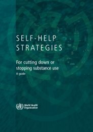 SELF-HELP STRATEGIES - libdoc.who.int - World Health Organization