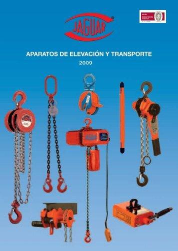APARATOS DE ELEVACIÓN Y TRANSPORTE - Jaguar