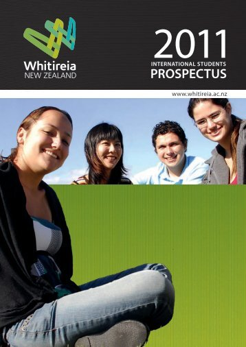 International Prospectus 2011 - Whitireia Community Polytechnic