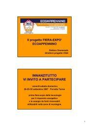 ECOAPPENNINO - Centro CISA