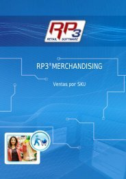 Ventas por SKU - RP3 Retail Software
