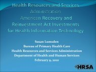 Health Resources and Services Administration - Blsmeetings.net
