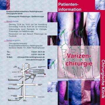 information Varizen - Chirurgische Klinik am ...