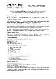 Pravidla soutěže ke stažení - KB - BLOK systém, sro